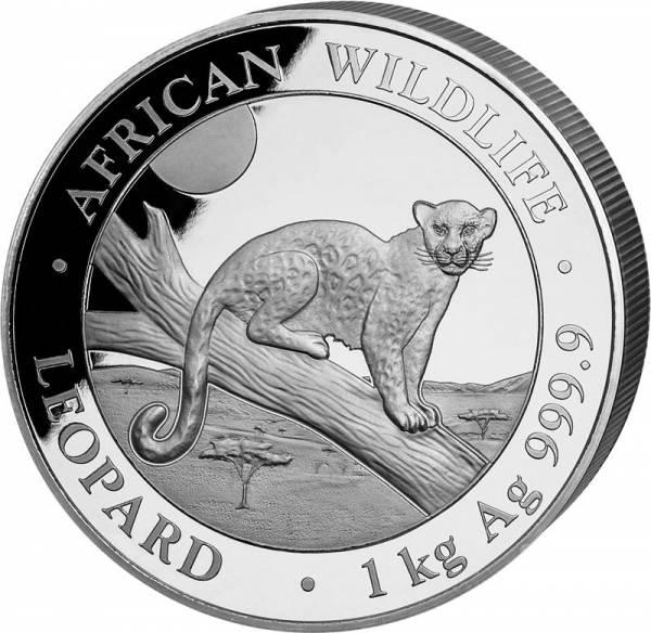 1 Kilo Silber Somalia Leopard 2021