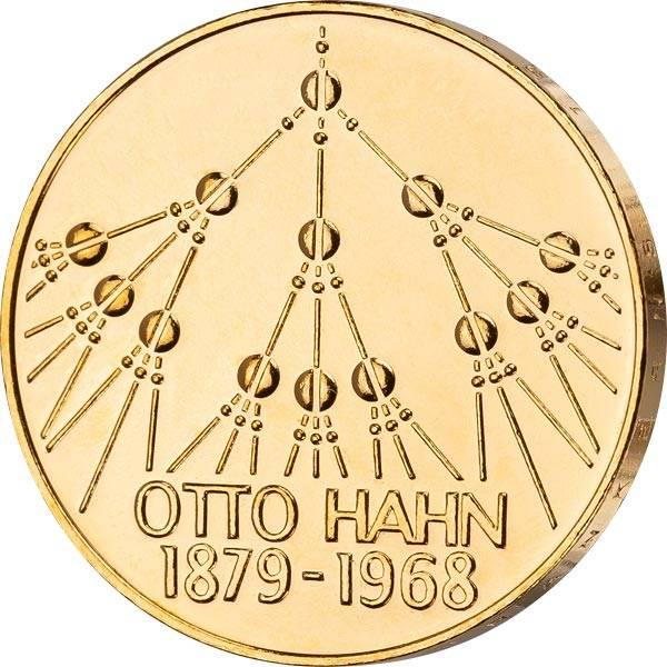 5 DM BRD Otto Hahn 1979 vollvergoldet