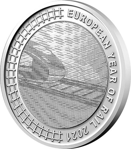 5 Euro Belgien Europäisches Jahr der Schiene 2021