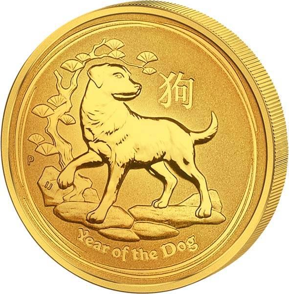 1/10 Unze Gold Australien Jahr des Hundes 2018
