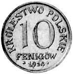 10 Fenigow Polen Reichsadler 1917-1918 Sehr schön
