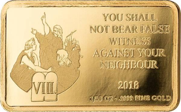 100 Francs Kongo Bibel 8. Gebot Du sollst nicht falsch Zeugnis reden 2018