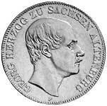 Taler Doppeltaler Georg 1852 ss-vz