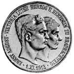3 Mark Braunschweig Lüneburg Ernst August 1915 prägefrisch