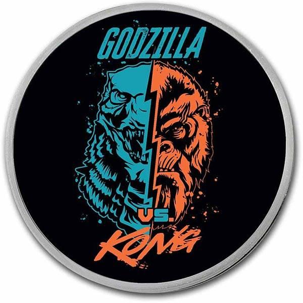 2 Dollars Niue Godzilla vs. King Kong Face-Off 2021