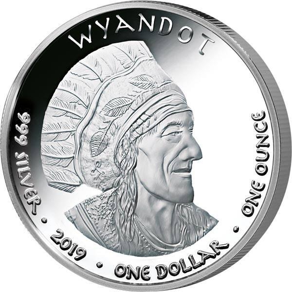 1 Dollar USA Native State Dollar Wyandot Northern Cardinal Ohio 2019