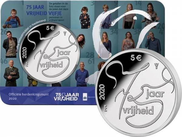 5 Euro Niederlande 75. Jahre Ende des 2. Weltkrieges 2020