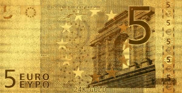 5 Euro BRD Goldfolien-Banknote