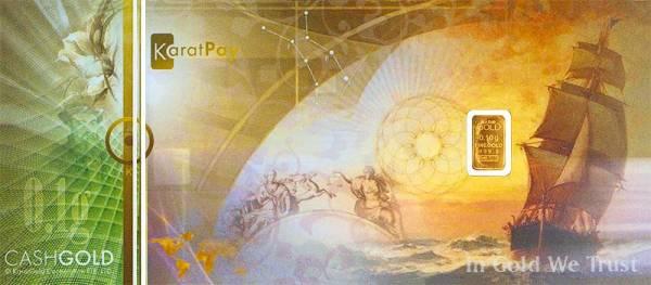 Goldbarren-Souvenirnote Ferdinand Magellan Schiff Victoria