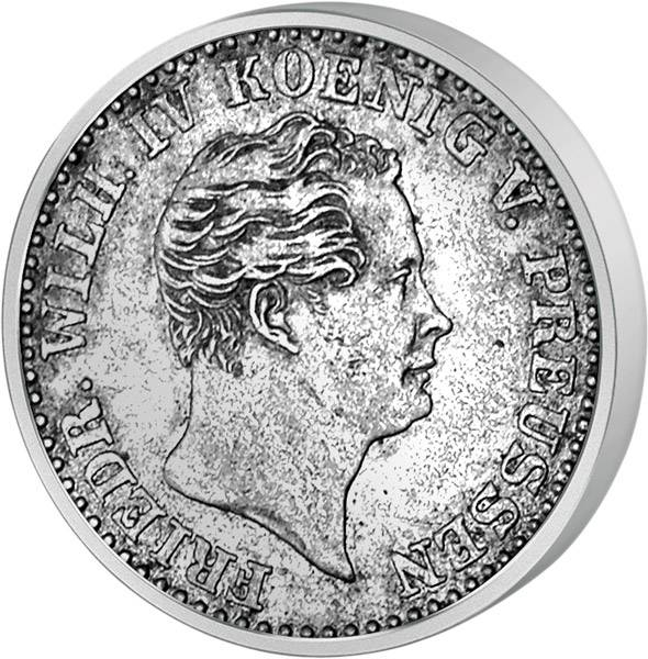 2 ½ Silbergroschen Preußen König Friedrich Wilhelm IV. 1842-1860 Sehr schön