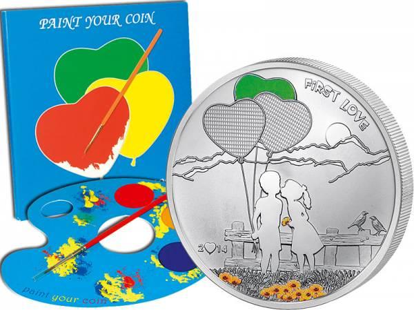 5 Dollars Cook-Inseln Erste Liebe 2014 Polierte Platte
