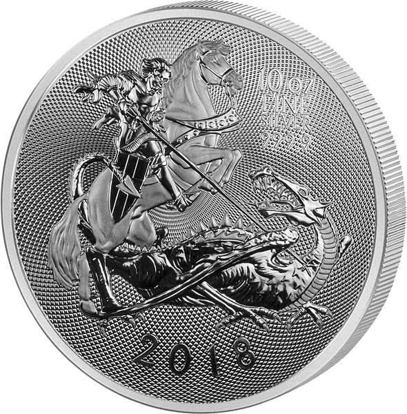 10 Unzen Silber Großbritannien Sankt Georg und Drache 2018