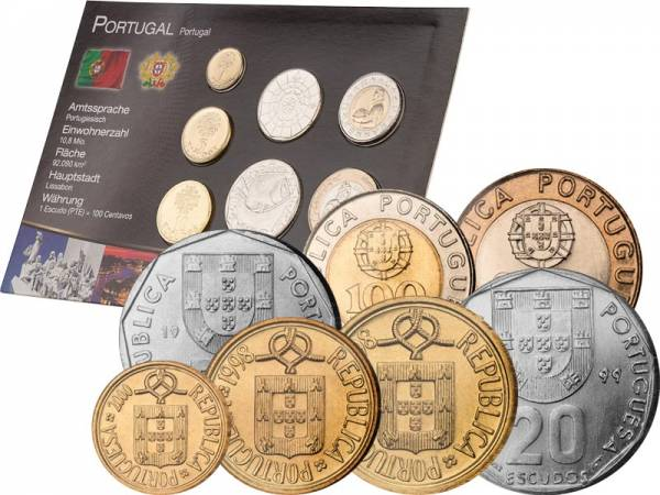 Premium-Kursmünzensatz Portugal 1986-2001