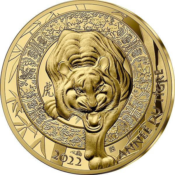 50 Euro Frankreich Jahr des Tigers 2022