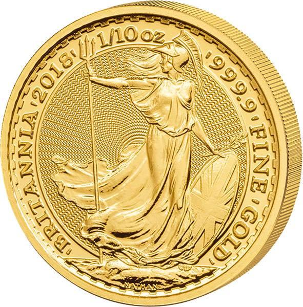 1/10 Unze Gold Großbritannien Britannia 2018