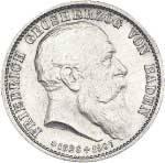 5 Mark Baden Tod Friedrichs 1907 Vorzüglich