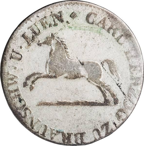 1/12 Taler Herzogtum Braunschweig Herzog Karl 1823-1830