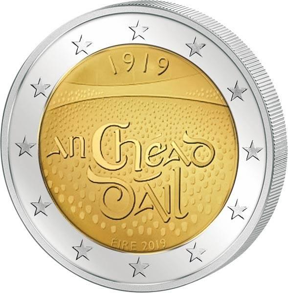 2 Euro Irland 100. Jahrestag der ersten Versammlung in Dáil Éireann 2019