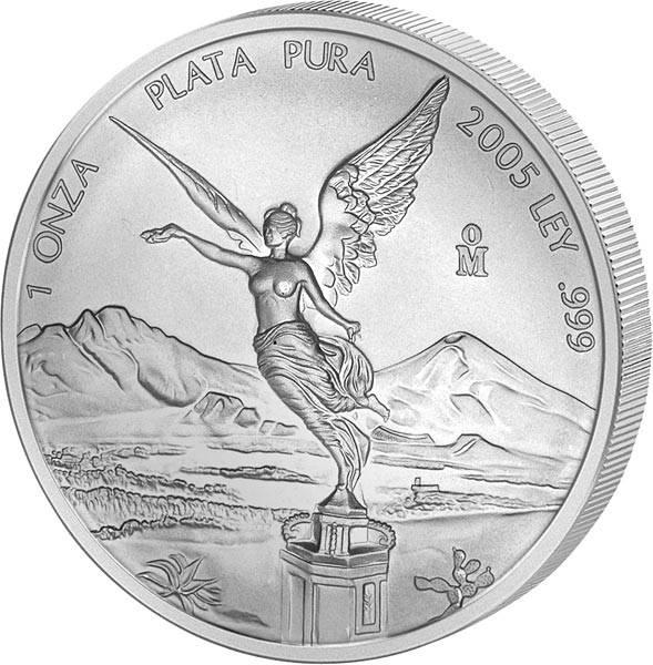 1 Unze Silber Mexico Libertad 2005
