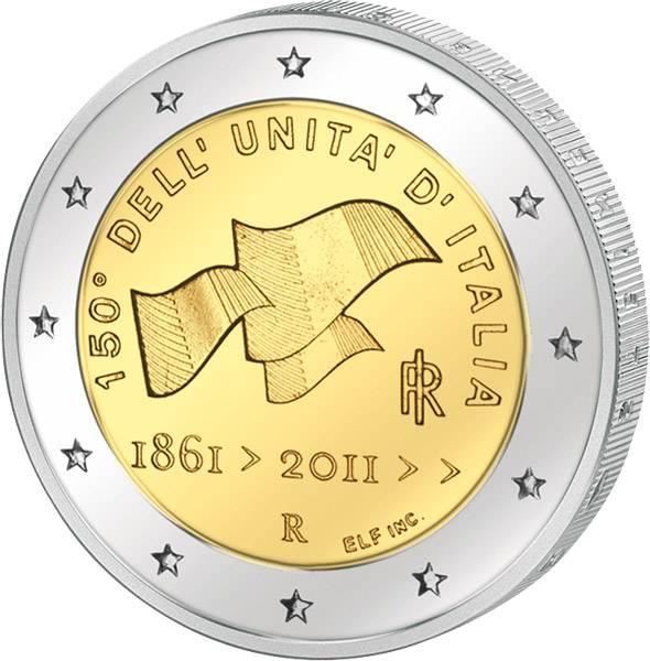2 Euro Italien 150. Jubiläum Vereinigung Italiens 2011 prägefrisch