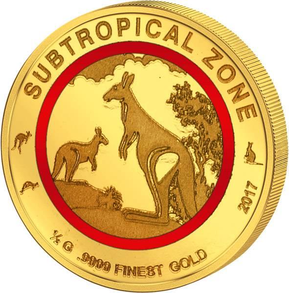 100 Francs Kongo Suptropische Zone Känguru 2017