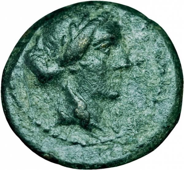 Klein-Bronze Lydien Sardeis 2.-1. Jh. v. Chr. s-ss