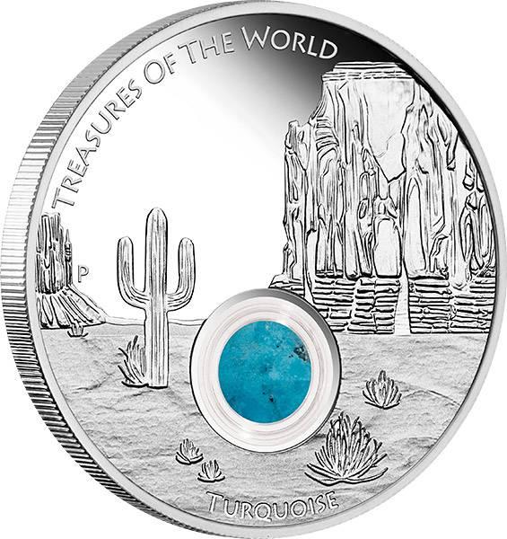 1 Dollar Australien Schätze der Erde Nordamerika 2015 Polierte Platte