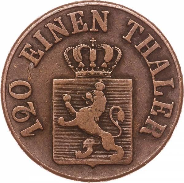 3 Heller Hessen-Kassel Kurfürst Wilhelm II. und Friedrich Wilhelm 1843-1846