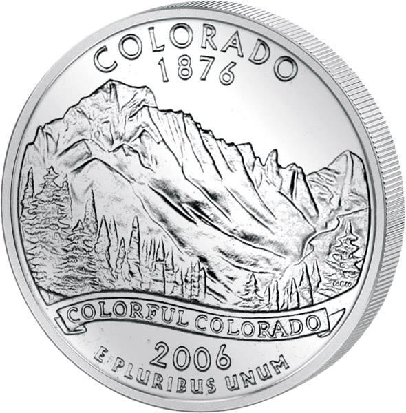Quarter Dollar USA Colorado 2006