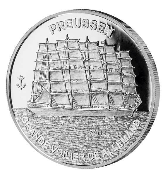 1.000 Francs Guinea Segelschiff Preussen 2018