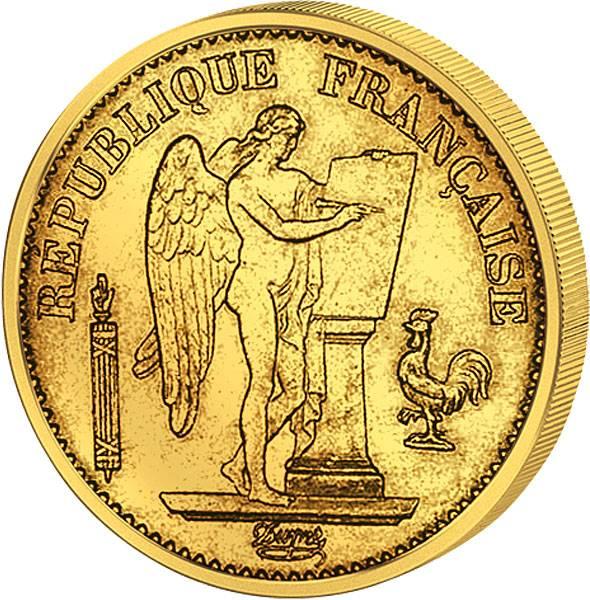 20 Francs Stehender Genius (unsere Wahl) 1871-1898  Sehr schön