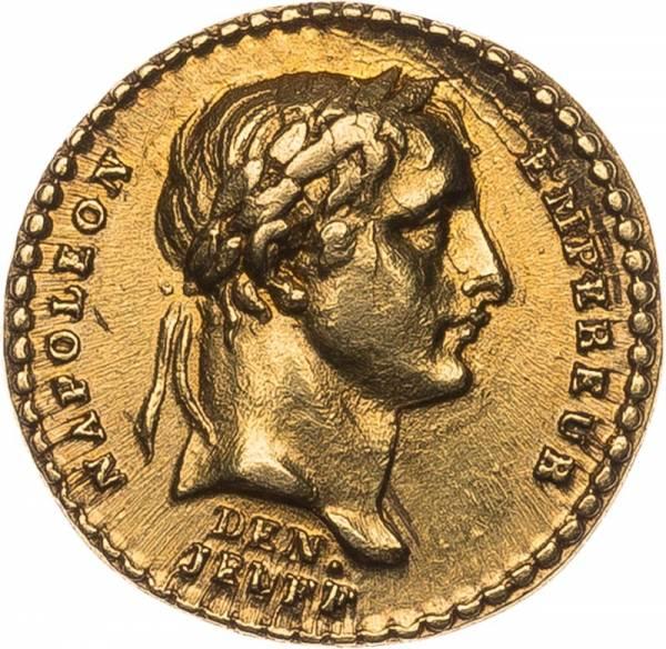 Quinar Miniaturmedaille Gold Frankreich Kaiserkrönung Napoleons I. 1804