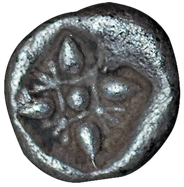Diobol Ionien Löwenkopf/Sternsymbol 600 v.Chr. Vorzüglich
