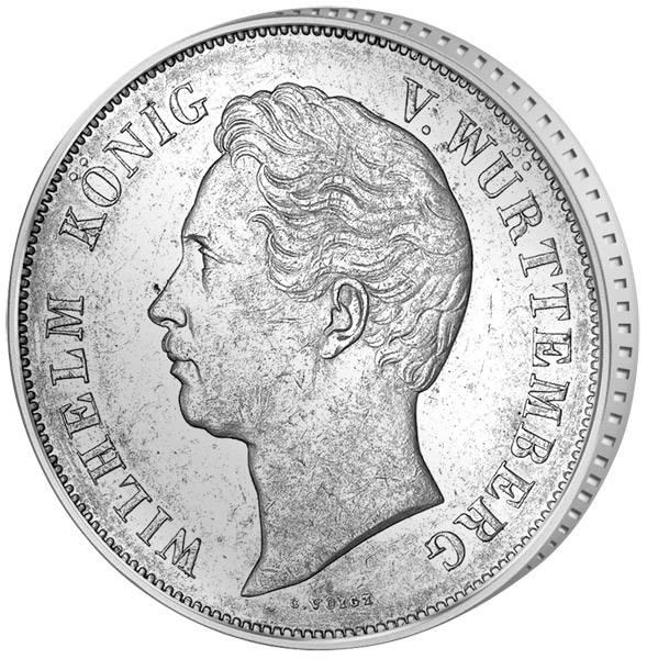 Doppelgulden Silber Wilhelm I. 1845-56 ss-vz