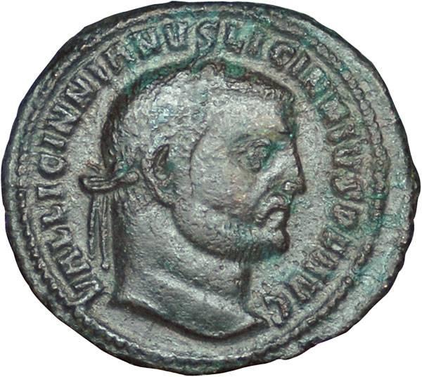 Mittel-Follis Licinius I. 308-324 n.Chr. Sehr schön