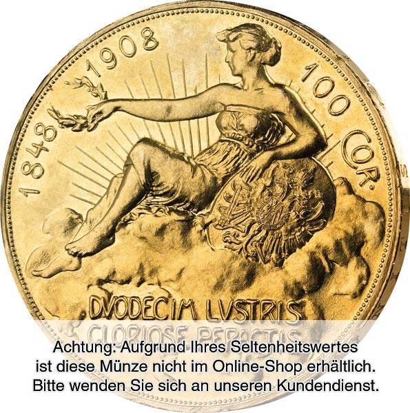 100 Kronen Österreich Kaiser Franz Joseph I. 60. Regierungsjubiläum 1908