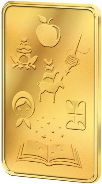1 Gramm Goldbarren Brüder Grimms schönste Märchen