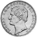Taler Vereinsdoppeltaler Johann 1861 ss-vz