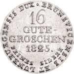 16 Groschen Hannover König Georg IV. 1820-1830 vz-st