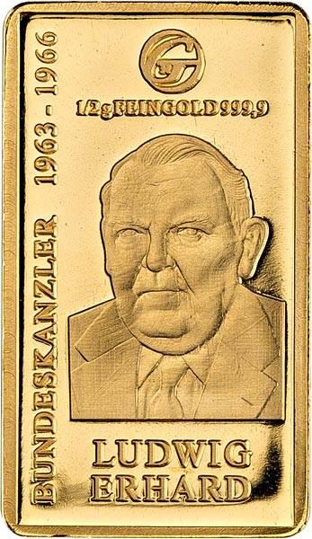 Goldbarren Ludwig Erhard