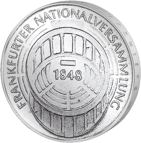 5 DM Münze BRD Frankfurt Nationalversammlung