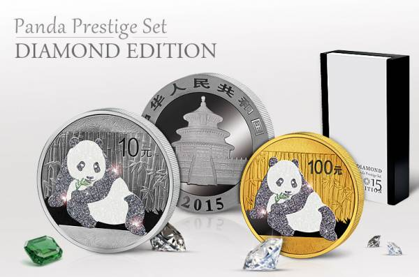 Panda Prestige Set 2015 Stempelglanz/Polierte Platte