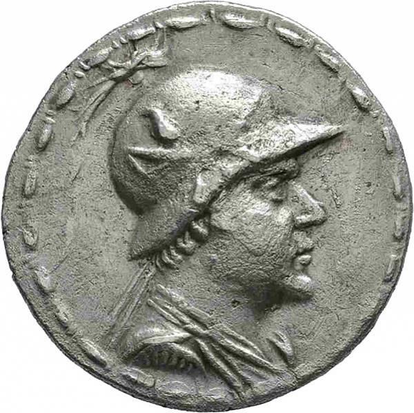 Tetradrachme Baktrien König Eukratides I.