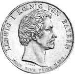 Geschichtstaler Ludwig I. Erste Eisenbahn Nürnberg - Fürth 1835 vorzüglich