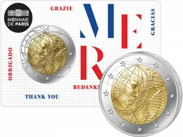 2 Euro Frankreich Medizinische Forschung - Merci 2020
