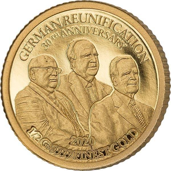 10 Francs Kongo 30 Jahre deutsche Einheit 2020