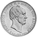 Taler Doppeltaler Friedrich August II. 1854 Vorzüglich