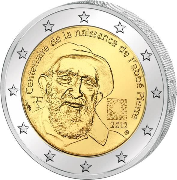 2 Euro  Frankreich 100. Geburtstag Abbé Pierre 2012  prägefrisch