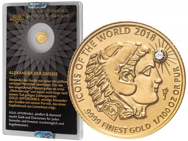10 Francs Ruanda Gold Affordable Diamond Edition Alexander 2018