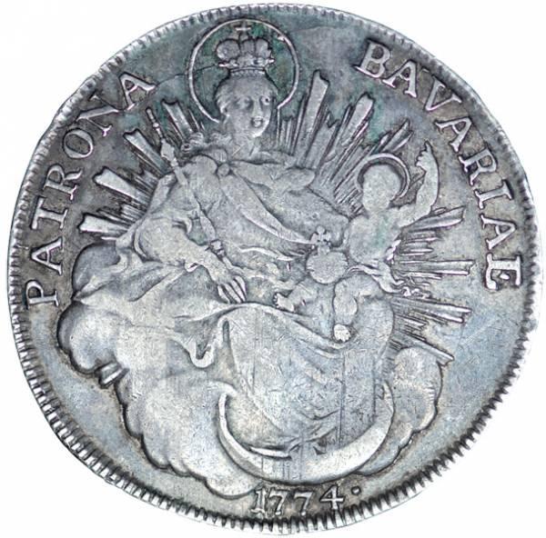 1 Taler Bayern Kurfürst Maximilian III. Joseph 1727-1777 Sehr schön